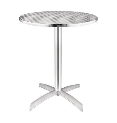 Bolero Stainless Steel Round Bar table Folding - STAINLESS STEEL - 72 (h) x60øcm