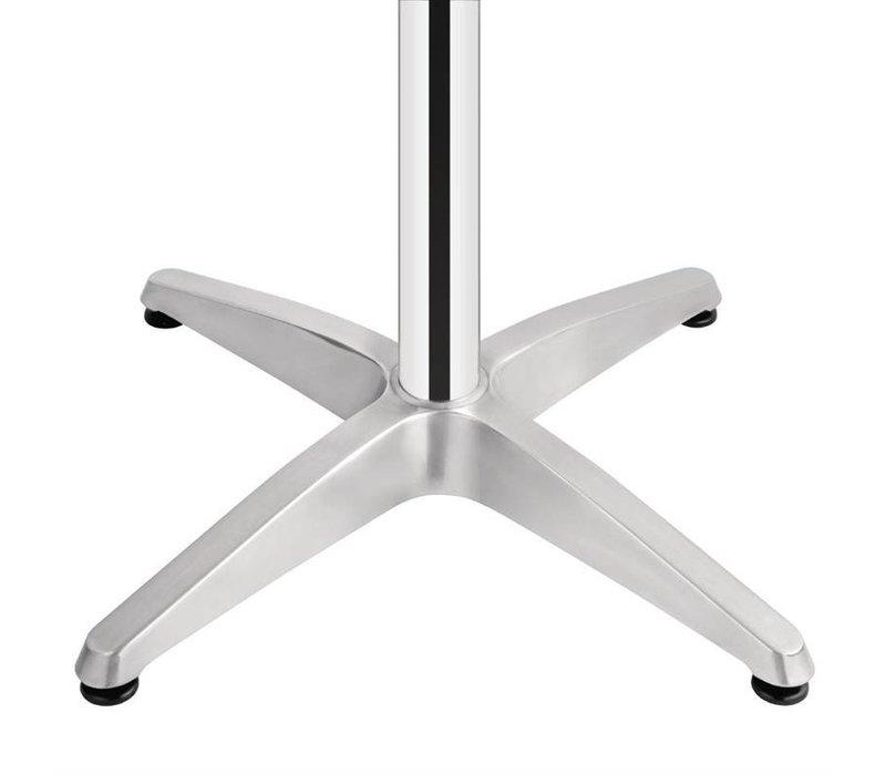 Bolero Horeca Statafel - Aluminium Frame - RVS Bovenblad - 105(H)x60(Ø)cm