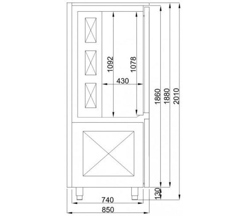Combisteel Blast Chiller / Snelkoeler | Snelvriezer | Pro Line | 15x 1/1GN | 800x850x(H)2010mm