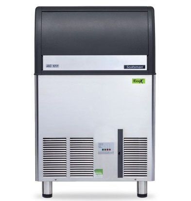Scotsman Ice machine EC 177 AS | Gourmet Ice cream 84kg / 24h | 48Kg Bunker | 680x600x (H) 1080mm | With or without drain pump