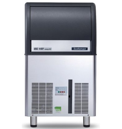 Scotsman Ice machine EC 107 AS | Gourmet Ice cream 53kg / 24h | 23Kg Bunker | 531x600x (H) 930mm With or without drain pump