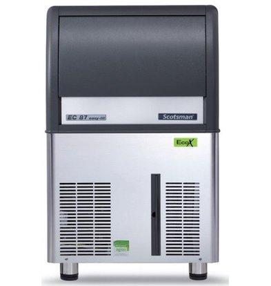 Scotsman IJsblokjesmachine EC 87 AS | Gourmet IJs | 45kg/24u | 19Kg Bunker | 531x600x(H)875mm | Met of zonder afvoerpomp