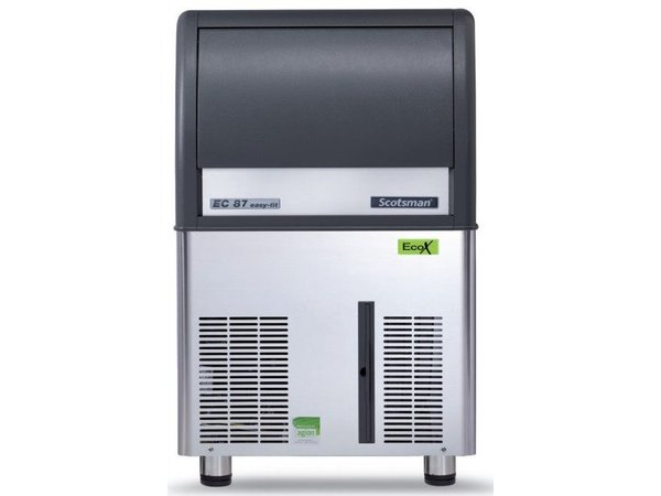Scotsman Ice machine EC 87 AS | Gourmet Ice cream 45kg / 24h | 19Kg Bunker | 531x600x (H) 875mm With or without drain pump