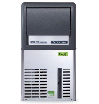 Scotsman IJsblokjesmachine EC 57 AS | Gourmet IJs | 33kg/24u | 12Kg Bunker | 386x600x(H)695mm | Met of zonder afvoerpomp