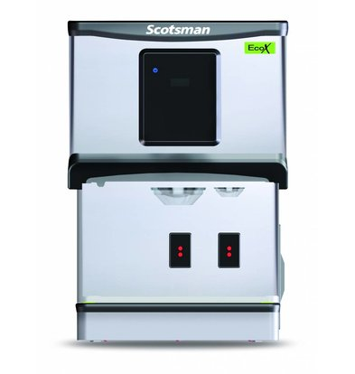 Scotsman IJs en Waterdispenser DXN 107F | Knop Of Touchscreen Bediening | Cublets  & IJswater | 70kg/24u | 427x552x(H)619mm