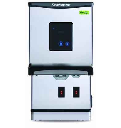 Scotsman IJs en Waterdispenser DXN 207F | Knop Of Touchscreen Bediening | Cublets  & IJswater | 100kg/24u | 427x552x(H)769mm