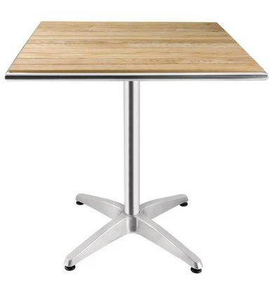 Bolero Gastronomie Bistro-Tabelle - mit Asche Tabletop - 72 (h) x70x70cm