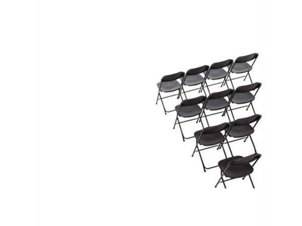 Bolero Opklapbare Stoel Stapelbaar tot 50 st. - Zwart - Prijs per 10 stuks
