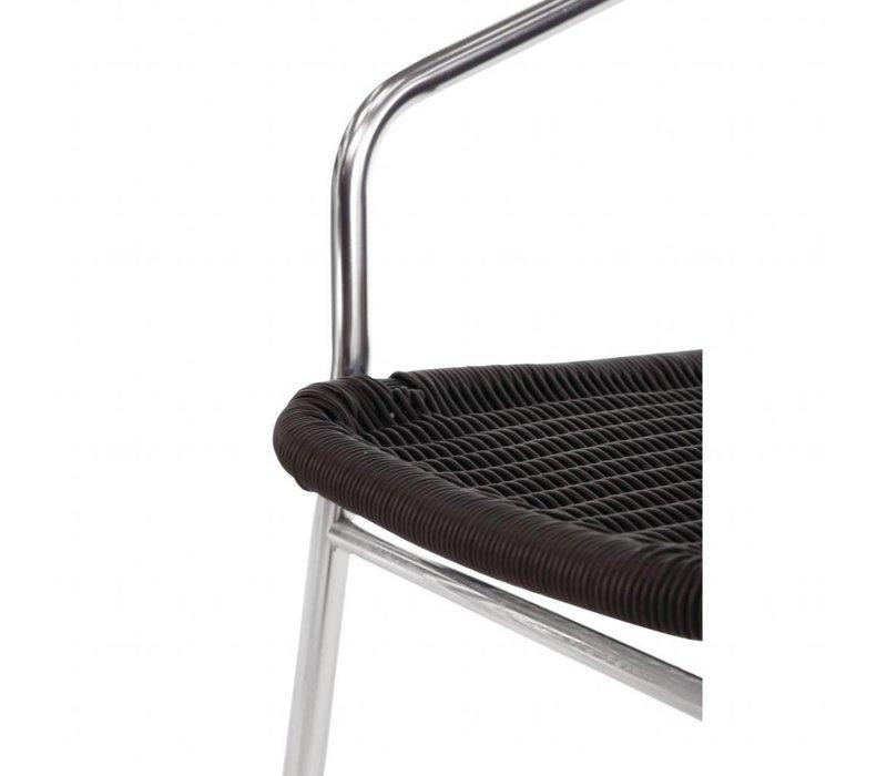 Bolero Stapelbare Zwarte Rotan Stoelen - Weerbestendig - Prijs per 4 stuks