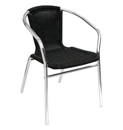 Bolero Stapelbar schwarz Rattan Stühle - Wetterfest - Preis für 4 Stück