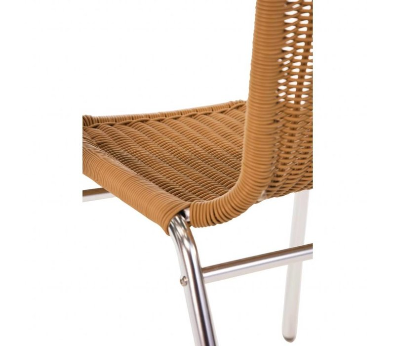 Bolero Stackable Natural Rattan Chair - Weatherproof - Price per 4 pieces