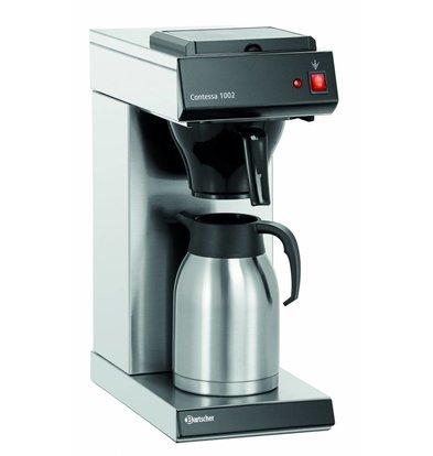Bartscher Coffee machine Contessa 1002   Chrome nickel steel   2 liter   215x390x (H) 520mm