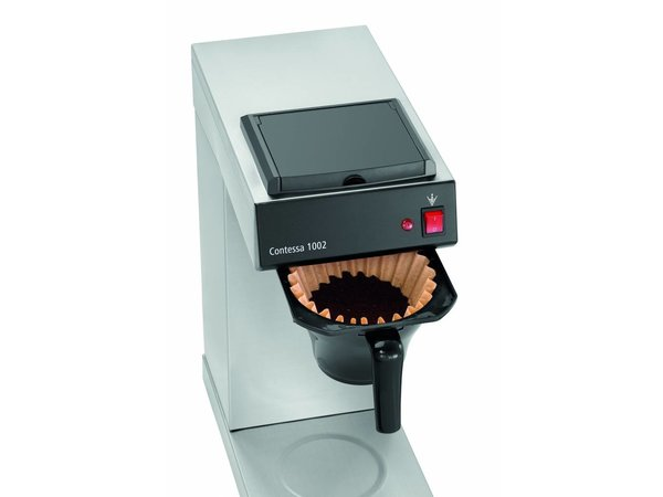 Bartscher Koffiemachine Contessa 1002 | Chroomnikkelstaal | Inhoud 2 liter | 215x390x(H)520mm