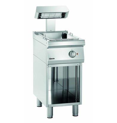 Bartscher Frites Warmhouder | 700 serie | Keramische Warmtestraler | 400x700x(H)850mm