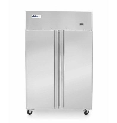 Hendi Freezer Profi Line Double door | 900 liters 6 Shelves | On Wheels | 1200x745x (H) 1950mm
