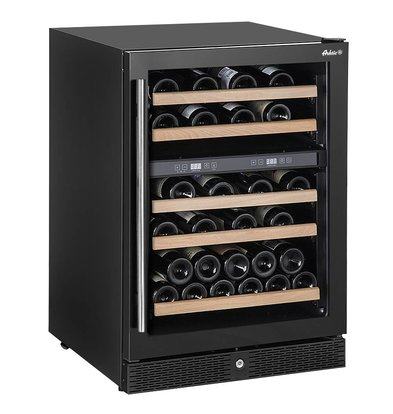 Hendi Wine fridge with 2 zones 155 liters Max 44 Wine bottles 5 Wooden Shelves | 596x654x (H) 855mm