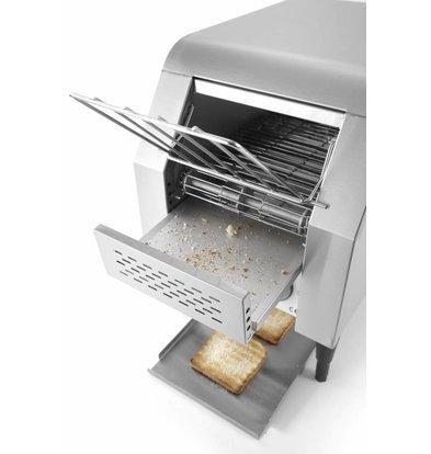 Hendi Doorloop Toaster Enkel | 2 Aparte Elementen | Doorlooptijd tot 5 Min. | 288x418x(H)387mm