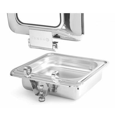 Hendi Inductie Chafing Dish 2/3 GN | Glazen Venster | Met Lepelhouder