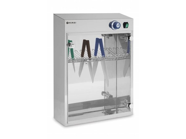 Hendi Uv Sterilizer | Suitable for 14 knives Timer to 60 minutes 510x160x (H) 610mm