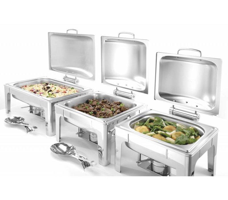 Hendi Chafing Dish 1/1 GN    Mat RVS   9 Liter   570x405x(H)290mm