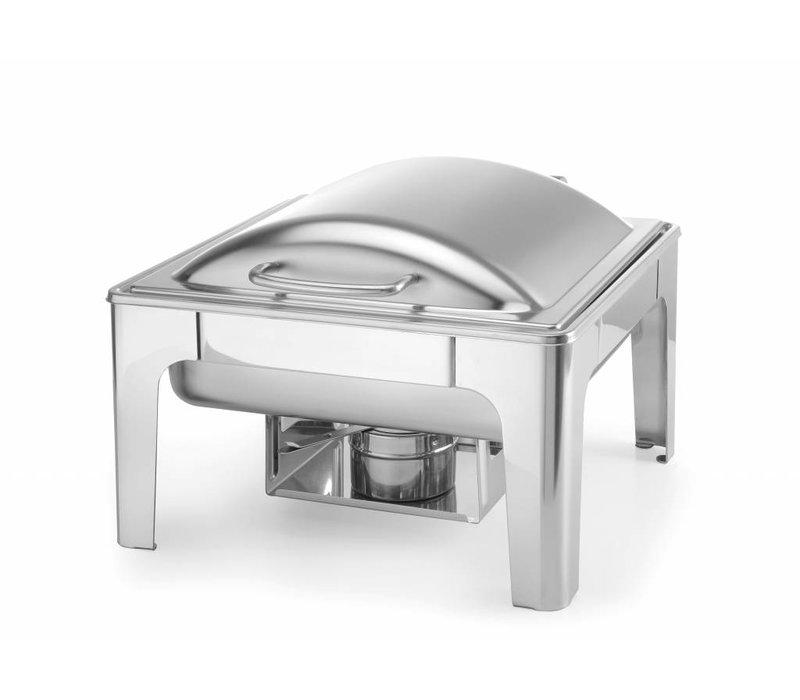 Hendi Chafing Dish 2/3 GN |  Mat RVS | 6 Liter | 395x430x(H)290mm