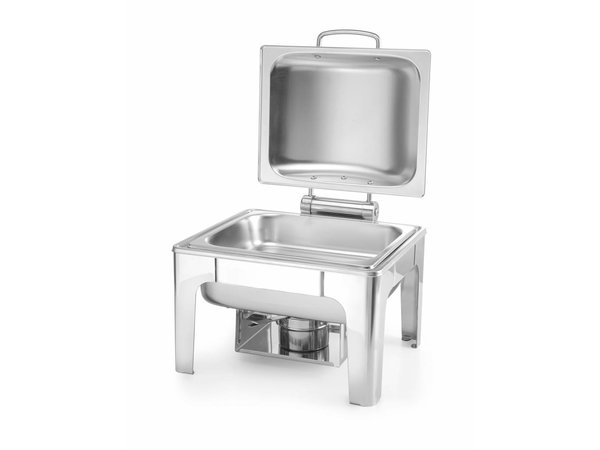 Hendi Chafing Dish 1/2 GN    Mat RVS   4 Liter   365x370x(H)280mm