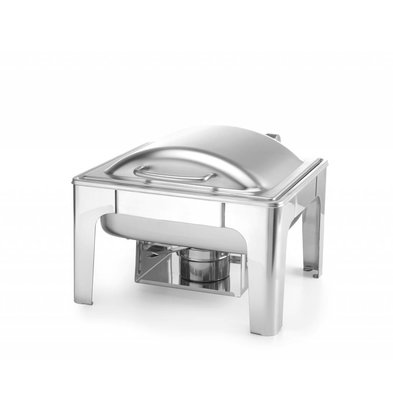Hendi Chafing Dish 1/2 GN | Mat stainless steel | 4 liters 365x370x (H) 280mm