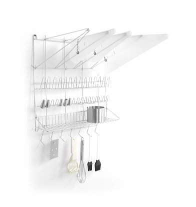 Hendi Multi-Functional Wall Rack | Suitable for piping bags, mouths and tools