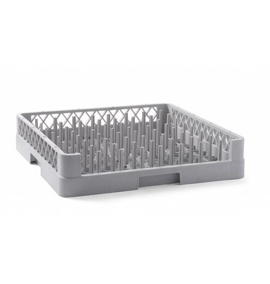 Hendi Dishwashing basket 50x50cm Suitable for Plates | 500x500x (H) 100mm