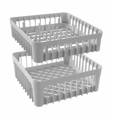 Hendi Dishwashing basket for glasses With Support Pins | 400x400x (H) 150mm