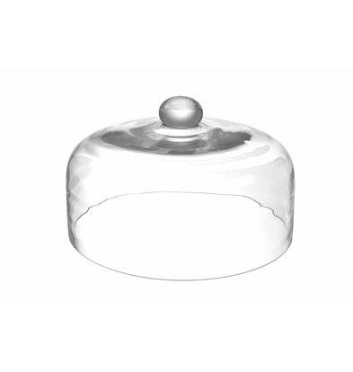 Hendi Glazen Stolp | Geschikt in Combinatie met het Rookapparaat | Ø245x(H)150mm
