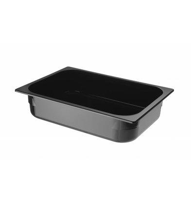 Hendi Ijscontainer Zwart Polycarbonaat | 360x250x(H)80mm