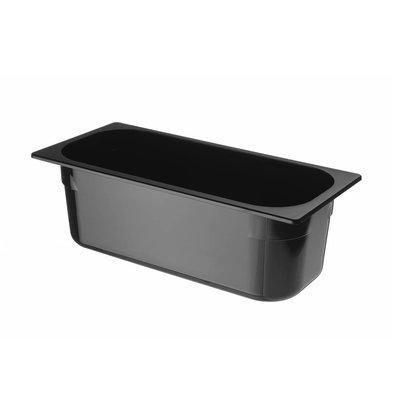 Hendi Ijscontainer Zwart Polycarbonaat | 360x165x(H)120mm