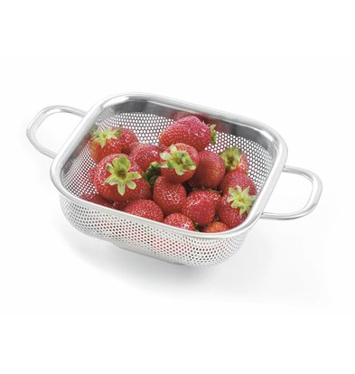 Hendi Stainless steel Colander Square | 2 Handles 169x169x (H) 55mm