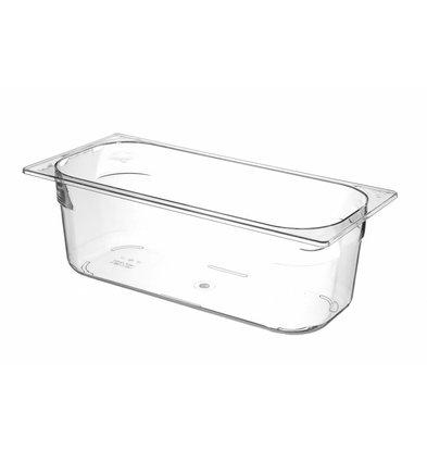Hendi Ijscontainer Doorzichtig Polycarbonaat | 360x165x(H)120mm