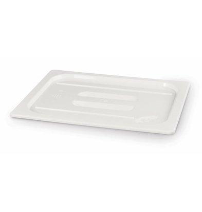 Hendi Polycarbonaat Deksel Wit | Zonder Uitsparing | Gn 1/2