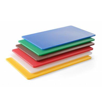 Hendi Snijplank HACCP  | 1/2GN 265x325x(H)9 mm | Beschikbaar in 6 Kleuren