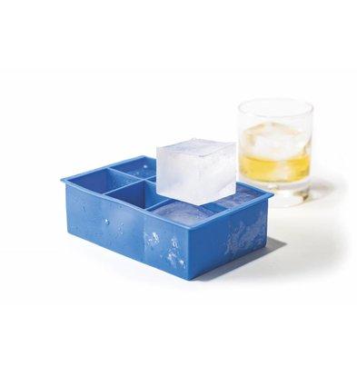 Hendi Ijsblokjesvorm XL Cubus | 6 Vakken | Siliconen Mal | 170x110x(H)52mm