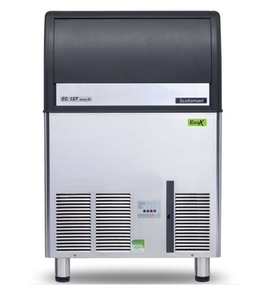 Scotsman Ice machine EC 127 AS | Gourmet Ice cream 75kg / 24h | 34Kg Bunker | 680x600x (H) 1010mm With or without drain pump