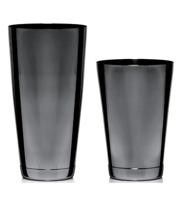 Bar Professional Boston Cocktail Shaker | 2 Delig | Zwarte coating | 800ml