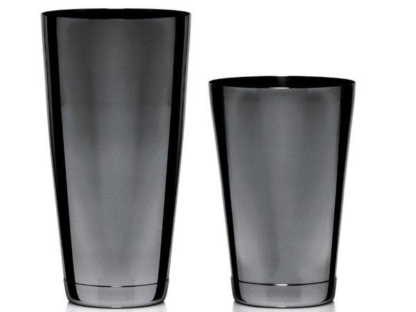 Bar Professional Boston Cocktail Shaker | 2 Delig | Zwarte coating | 800ml