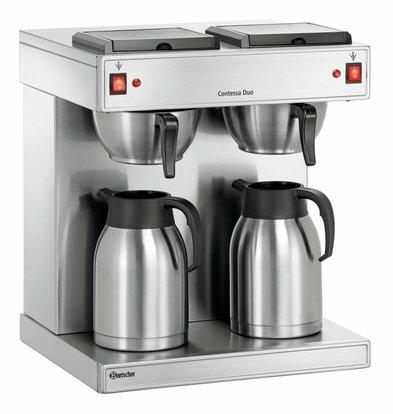 Bartscher Koffiemachine Contessa Duo  | Chroomnikkelstaal | Inhoud 2x2 Liter | 430x400x(H)520mm