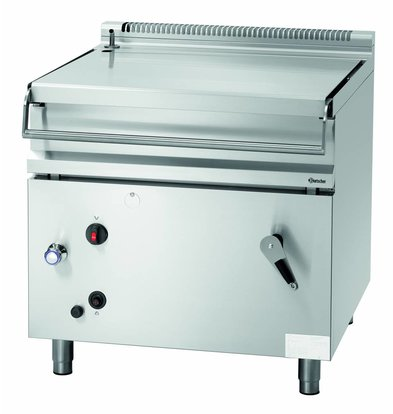 Bartscher Gas Tilting Fryer Pan 80 liters 100 to 300 ° C 22 kW 900x900x (H) 900mm