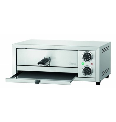 Bartscher Pizza oven ST350 TR | Suitable for 1 Pizza Ø340mm | 1.75 kW 500x420x (H) 215mm
