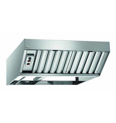 Bartscher Condensation cap stainless steel | 2 Filters 800 m3 / h to 1500 m3 / h | 0.37 kW | 870x950x (H) 300mm