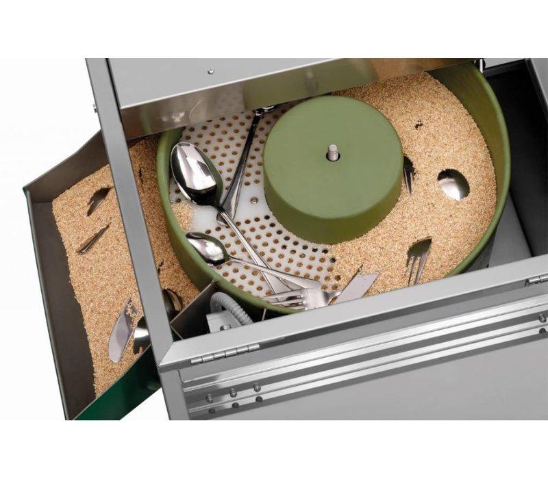 Bartscher Bestekpoleermachine | Geïntegreerde UV-lamp | Programma Indicatoren | RVS | Beschikbaar in 3 Maten