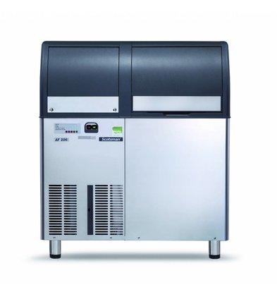 Scotsman Peeling ice machine AF / EF 206 Air-cooled 200kg / 24h | 60kg Bunker | 950x605x (H) 1006 / 1096mm