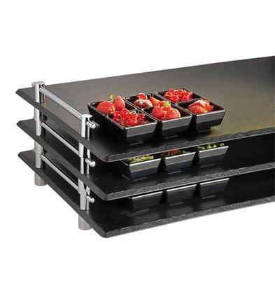 APS FSE Serveerschaal Stapelbaar Leisteen | 1/1GN | Melamine | 53x32,5x(H)6cm