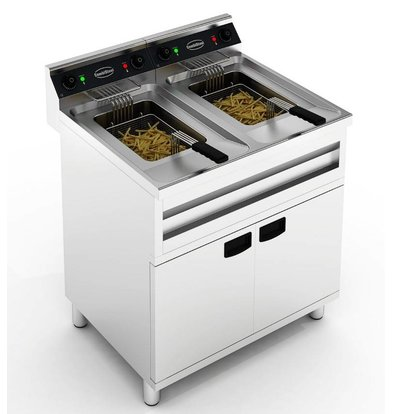 Combisteel Electric Fryer | With Mount | 2x12 Liter 2x9 kW | 800x700x (H) 850mm