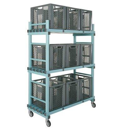 REA REA Materiaalwagen | Standaard uitvoering | Geschikt voor 9 Bakken | 1380x600x(H)1800mm